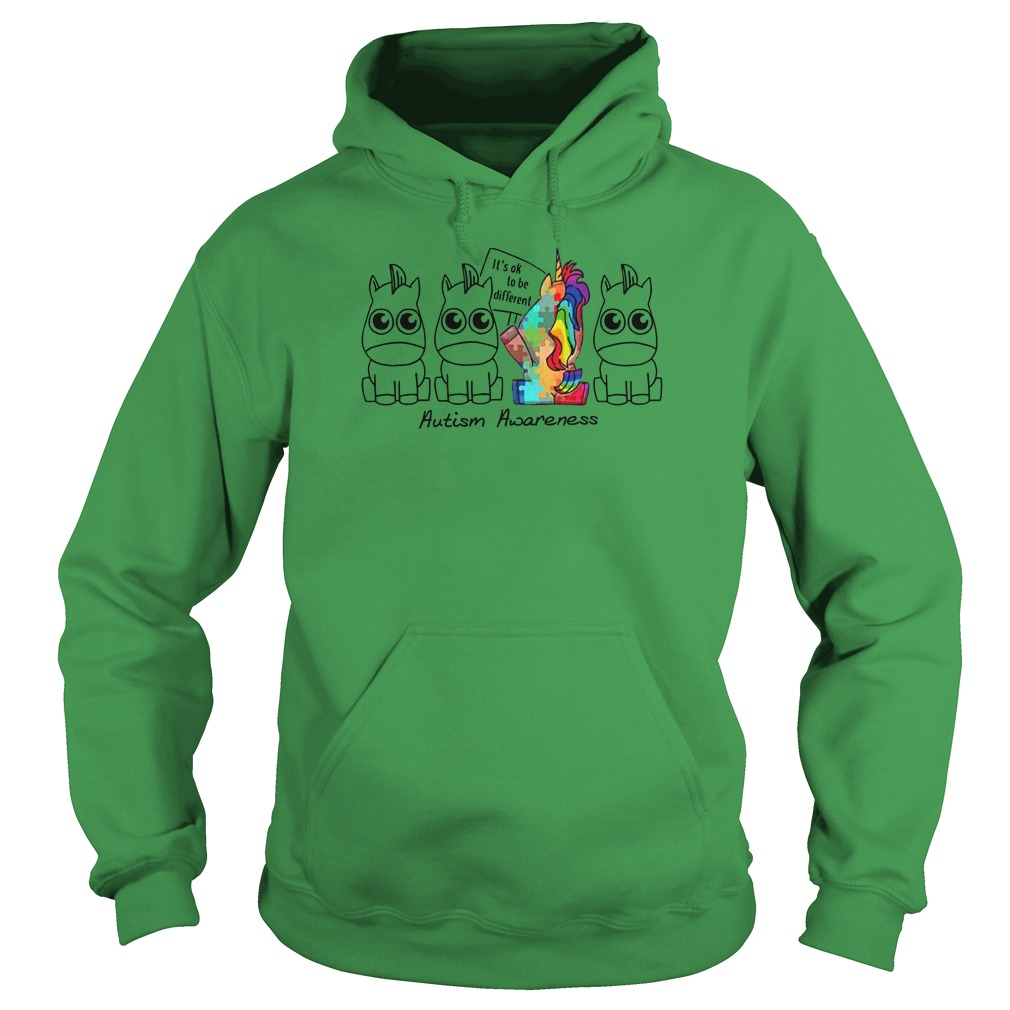 It's ok to be different Autism Awareness Unicorn shirt hoodie