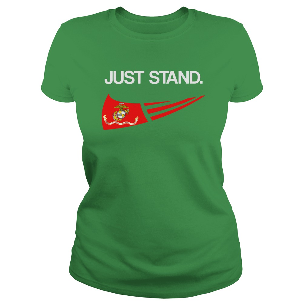 Just Stand United States Marine Corps shirt lady tee