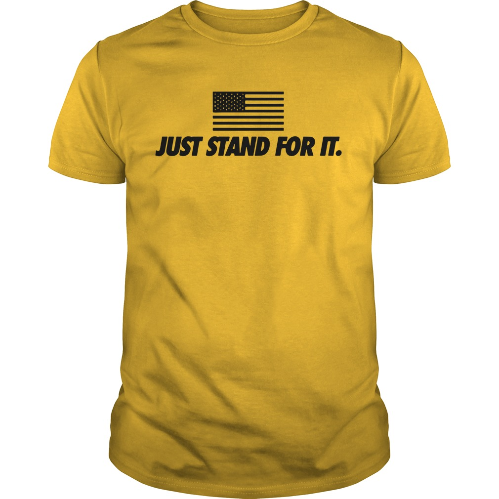 Just stand for it American flag shirt guy tee