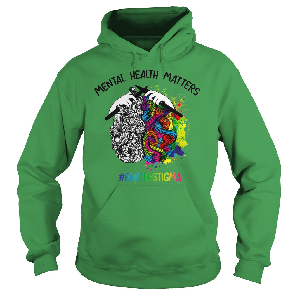 Knitting Mental health matters end the stigma shirt hoodie