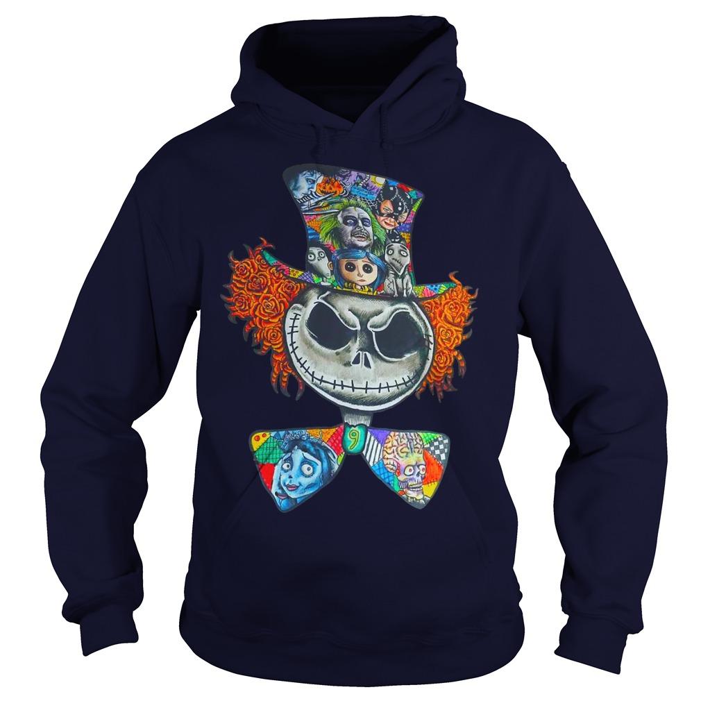 Mad Hatter Jack Skellington Tim Burtons character shirt hoodie