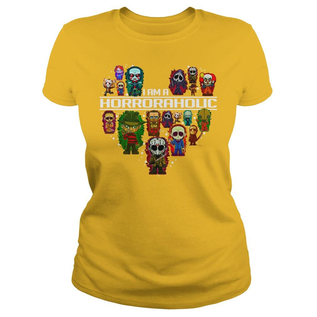 I am a Horror Aholic shirt lady tee