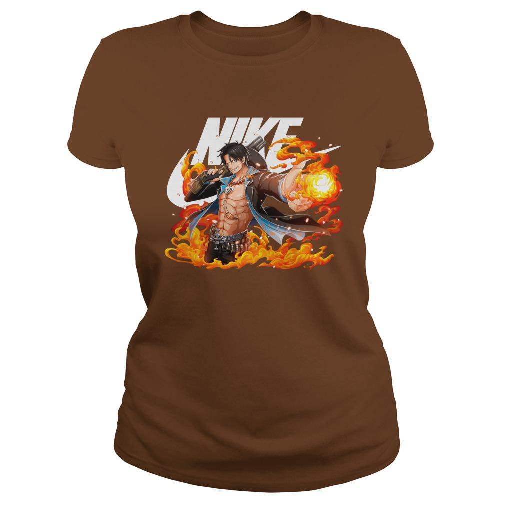 One Piece Portgas D. Ace Nike shirt lady tee