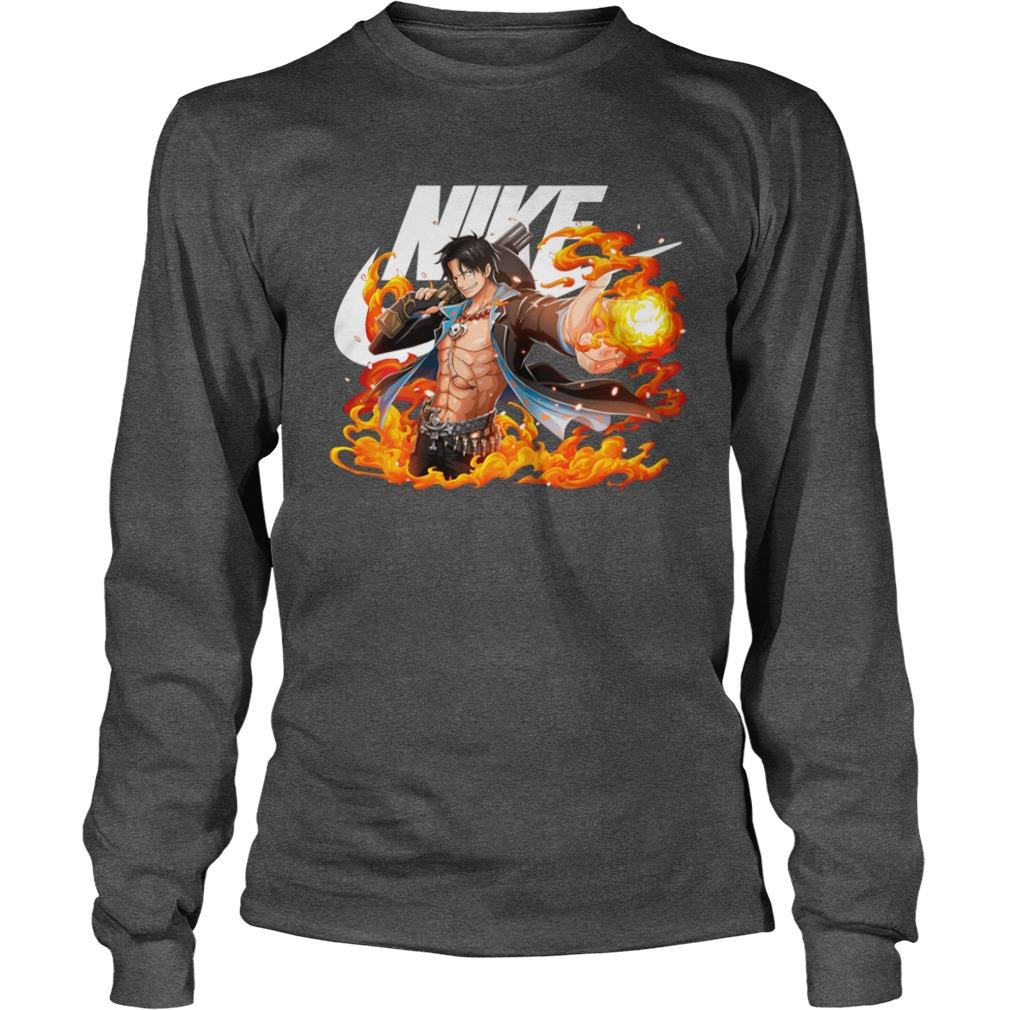 One Piece Portgas D. Ace Nike shirt unisex longsleeve tee