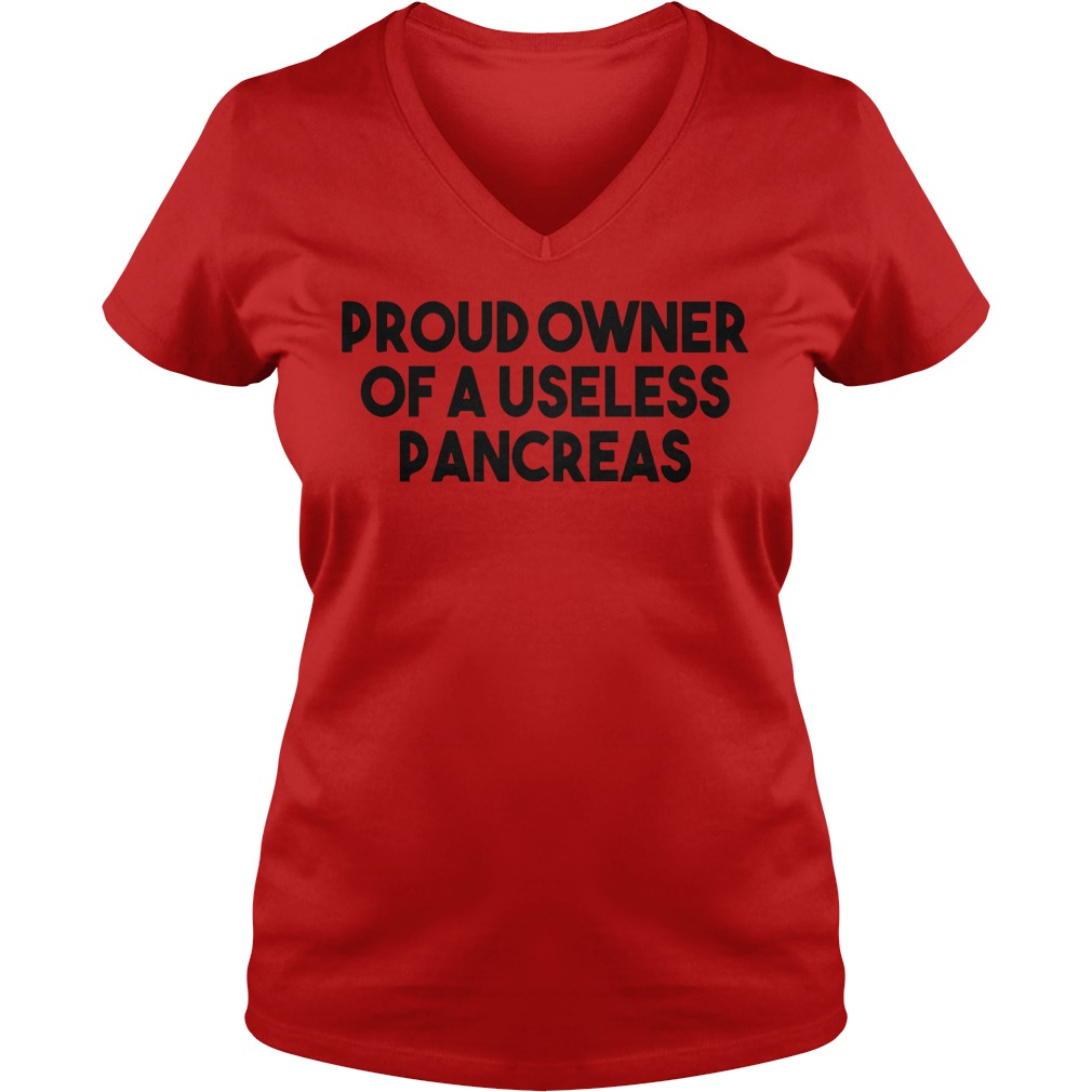 Proud owner of a useless pancreas shirt lady v-neck