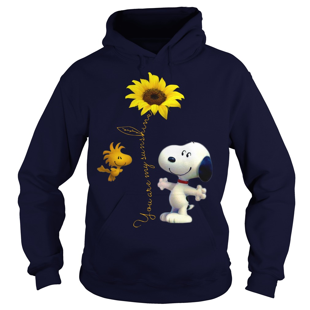Snoopy and Woodstock You are my sunshine Sunflower shirt hoodie