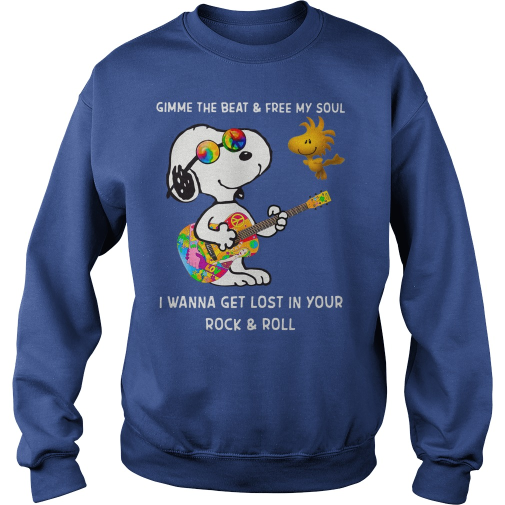 Snoopy and Woodstock gimme the beat and free my soul shirt sweat shirt