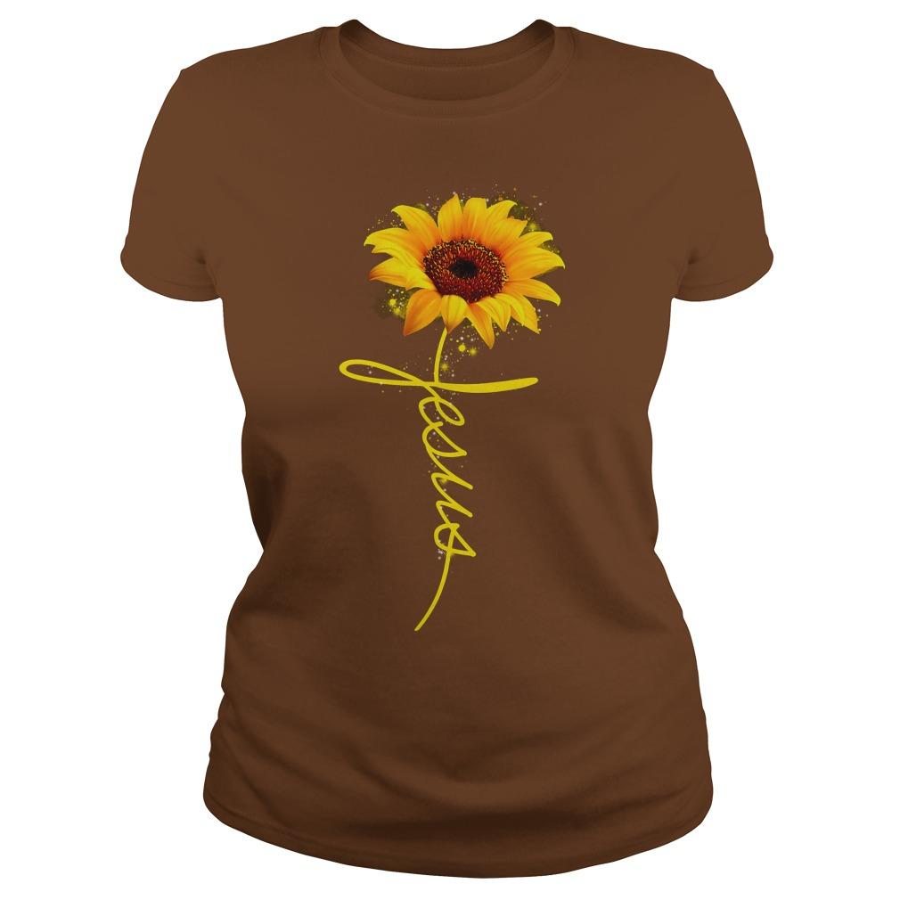 Sunflower Jesus shirt lady tee