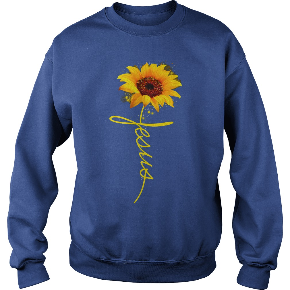 Sunflower Jesus shirt sweat shirt