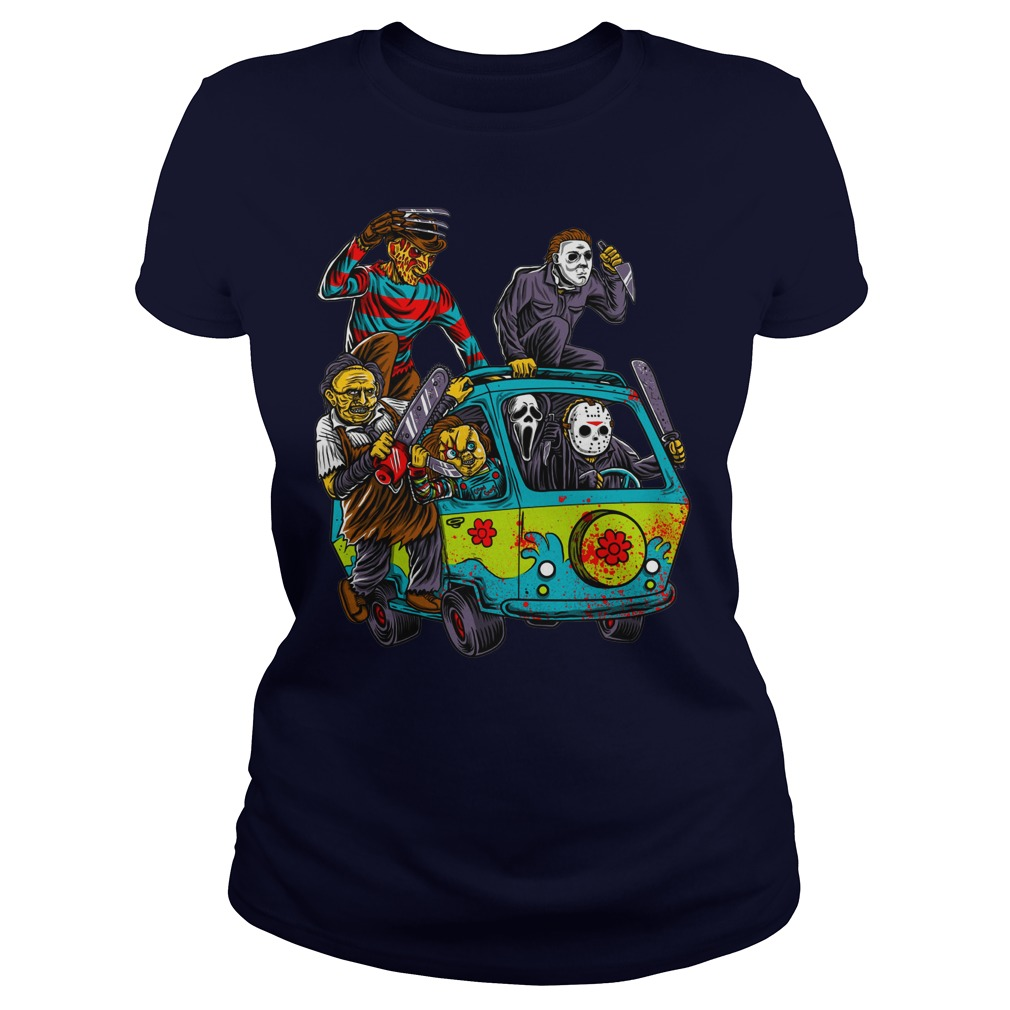 The Massacre Machine Horror Scooby Doo Version shirt lady tee
