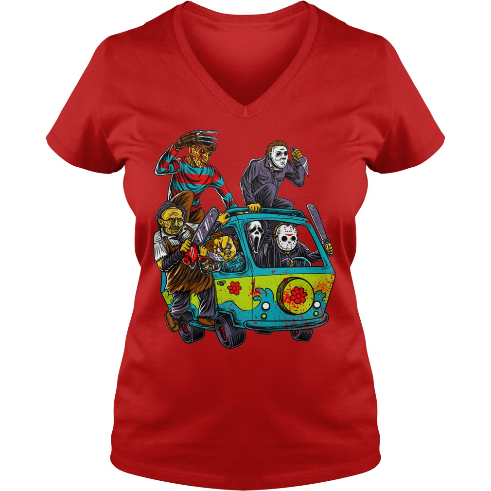 The Massacre Machine Horror Scooby Doo Version shirt lady v-neck