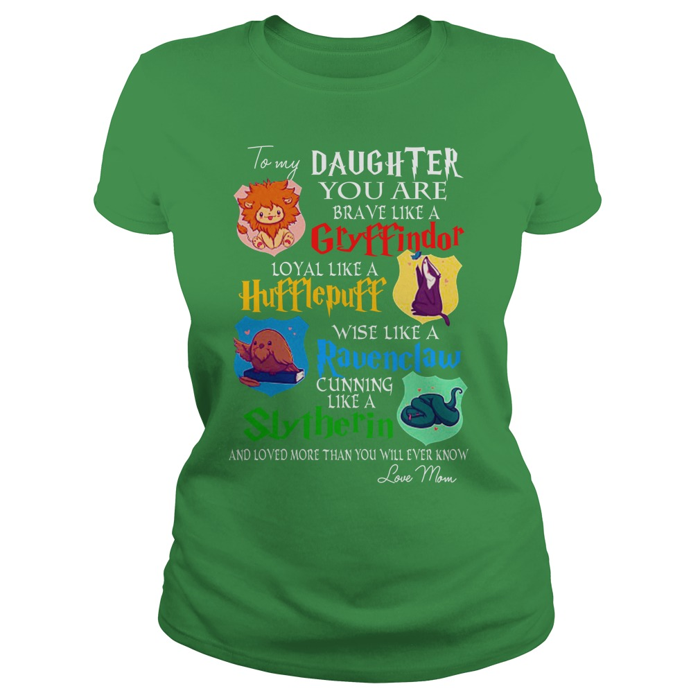 To my daughter you are brave like a Gryffindor shirt lady tee
