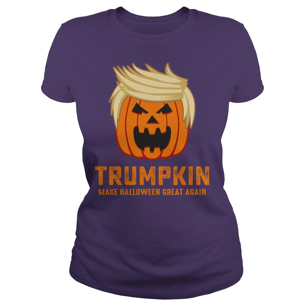 Trumpkin make halloween great again shirt lady tee