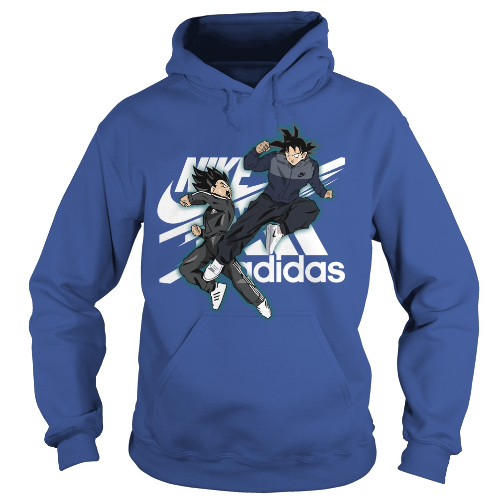 Vegeta nike and goku adidas shirt hoodie