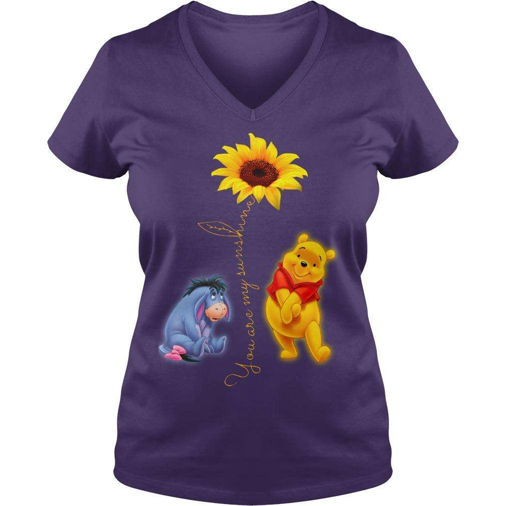 Winnie the Pooh You Are My Sunshine Shirt lady v-neck