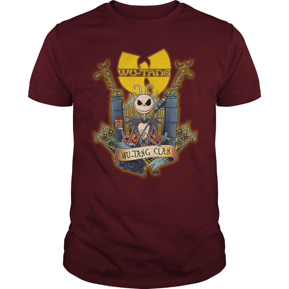 Wu-Tang Clan Jack Skellington shirt guy tee