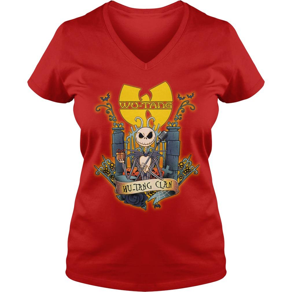 Wu-Tang Clan Jack Skellington shirt lady v-neck