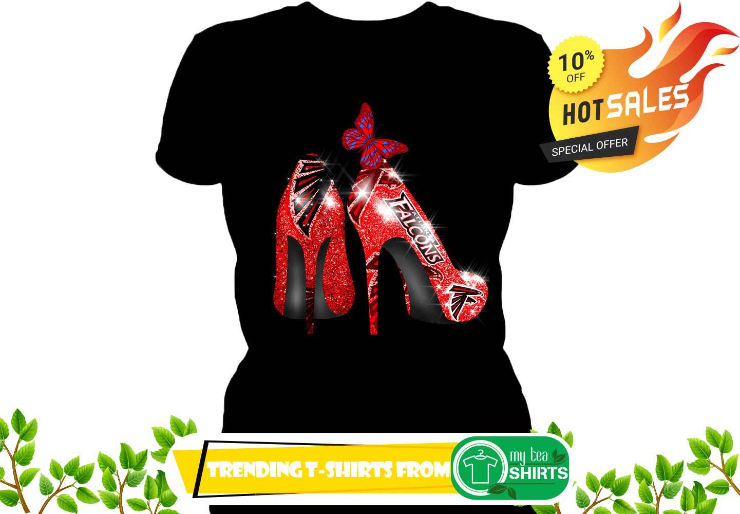 big sale 430b3 6c113 Atlanta Falcons Rhinestone High Heels shirt, lady v-neck, hoodie