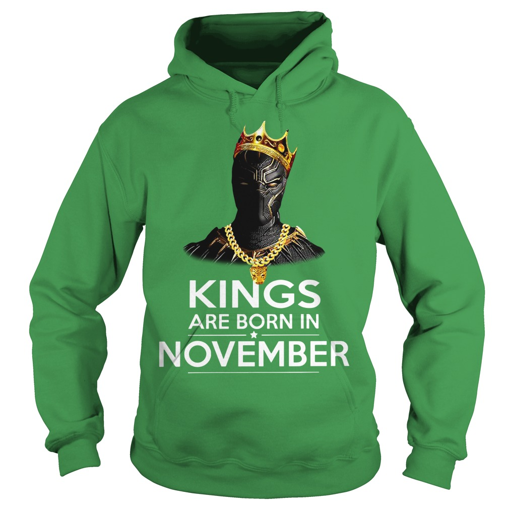 Black Panther Kings are born in November shirt hoodie