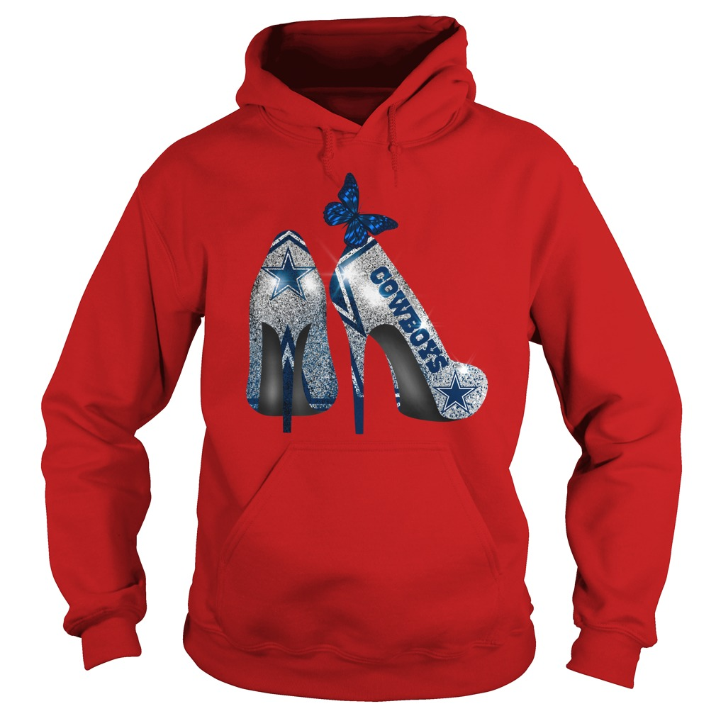 Dallas Cowboy Rhinestone High Heels shirt hoodie