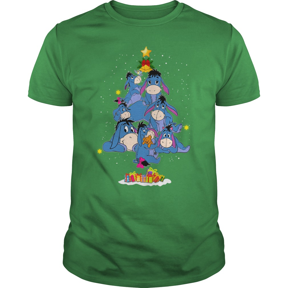 Eeyore christmas tree shirt guy tee