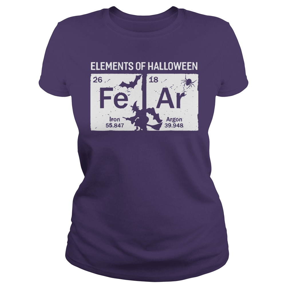 Elements of Halloween Fear Periodically shirt lady tee