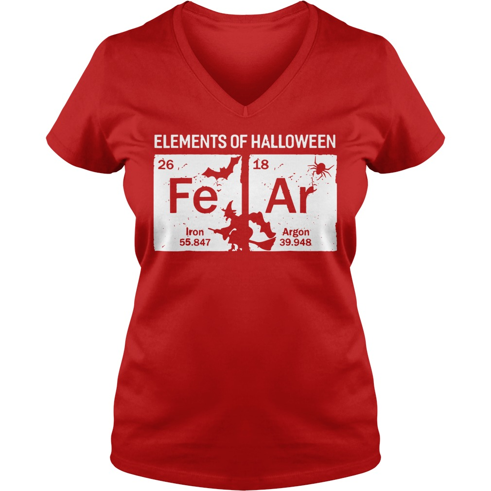 Elements of Halloween Fear Periodically shirt lady v-neck
