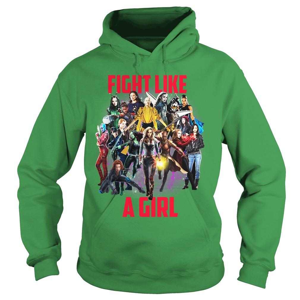 Fight like a girl Captain Marvel Girls shirt hoodie