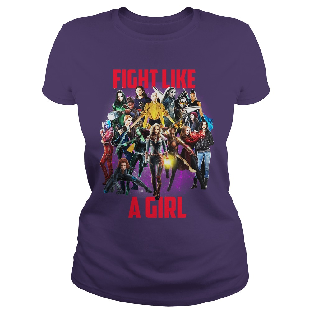 Fight like a girl Captain Marvel Girls shirt lady tee