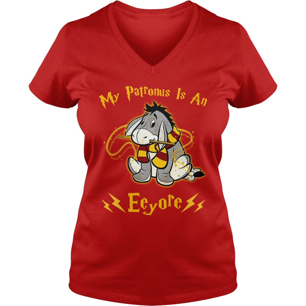 Harry Potter My Patronus is an Eeyore shirt lady v-neck