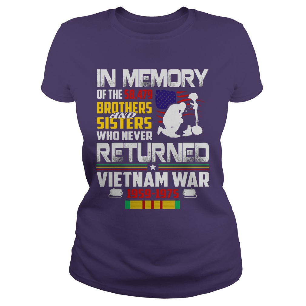 In memory of 58, 479 brothers & sisters who never returned shirt lady tee