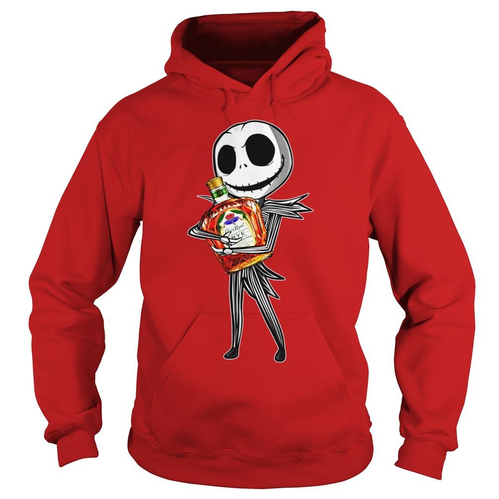 Jack Skellington hugs Crown Royal shirt hoodie