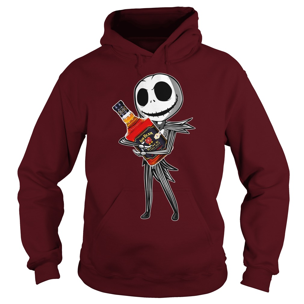 Jack Skellington hugs Jim Beam shirt hoodie