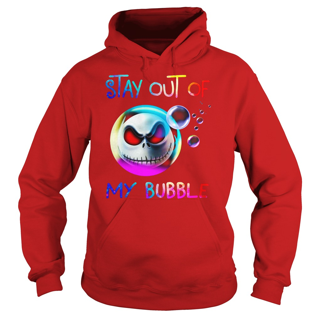 Jack Skellington's head - Stay out of my bubble shirt hoodie