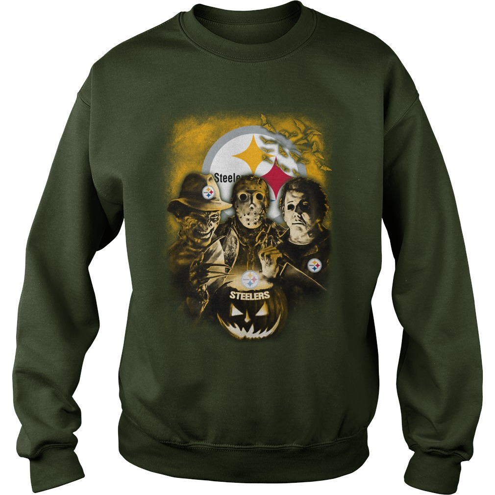 Jason, Michael Myers, Freddy Krueger Pittsburgh Steelers shirt sweat shirt