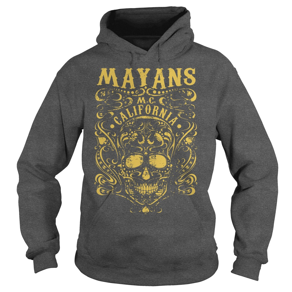Mayan Motorcycle Club Vintage Gold Skull California shirt hoodie