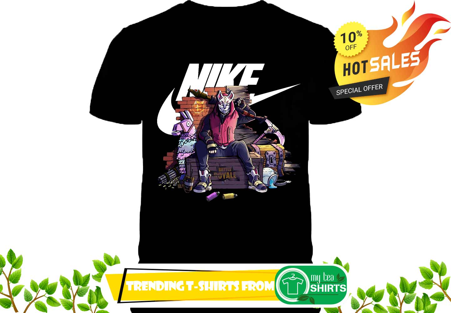 dd7704141 Nike Fortnite Drift Battle Royale shirt, sweat shirt, lady tee ...