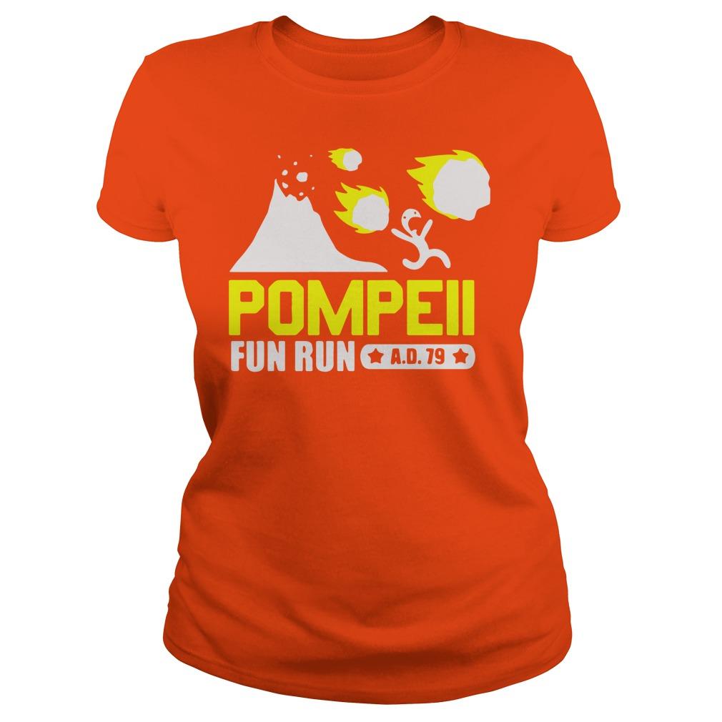 Pompeii Fun Run AD 79 shirt lady tee