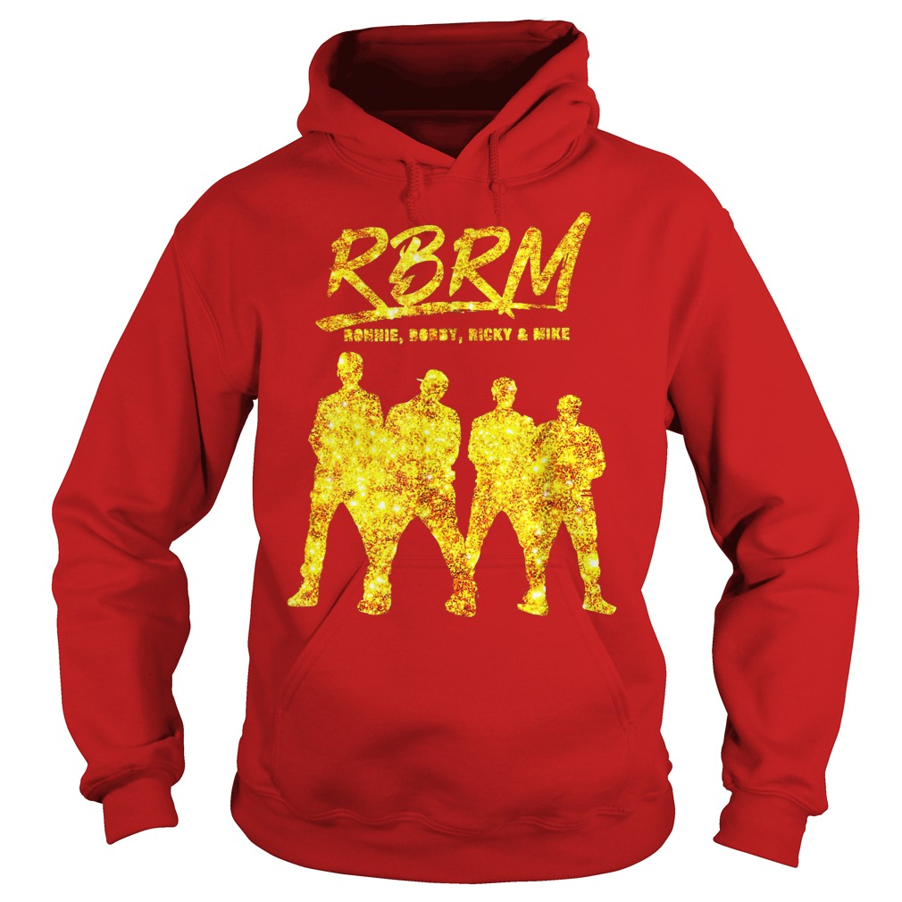RBRM Ronnie Bobby Ricky & Mike gold shirt hoodie