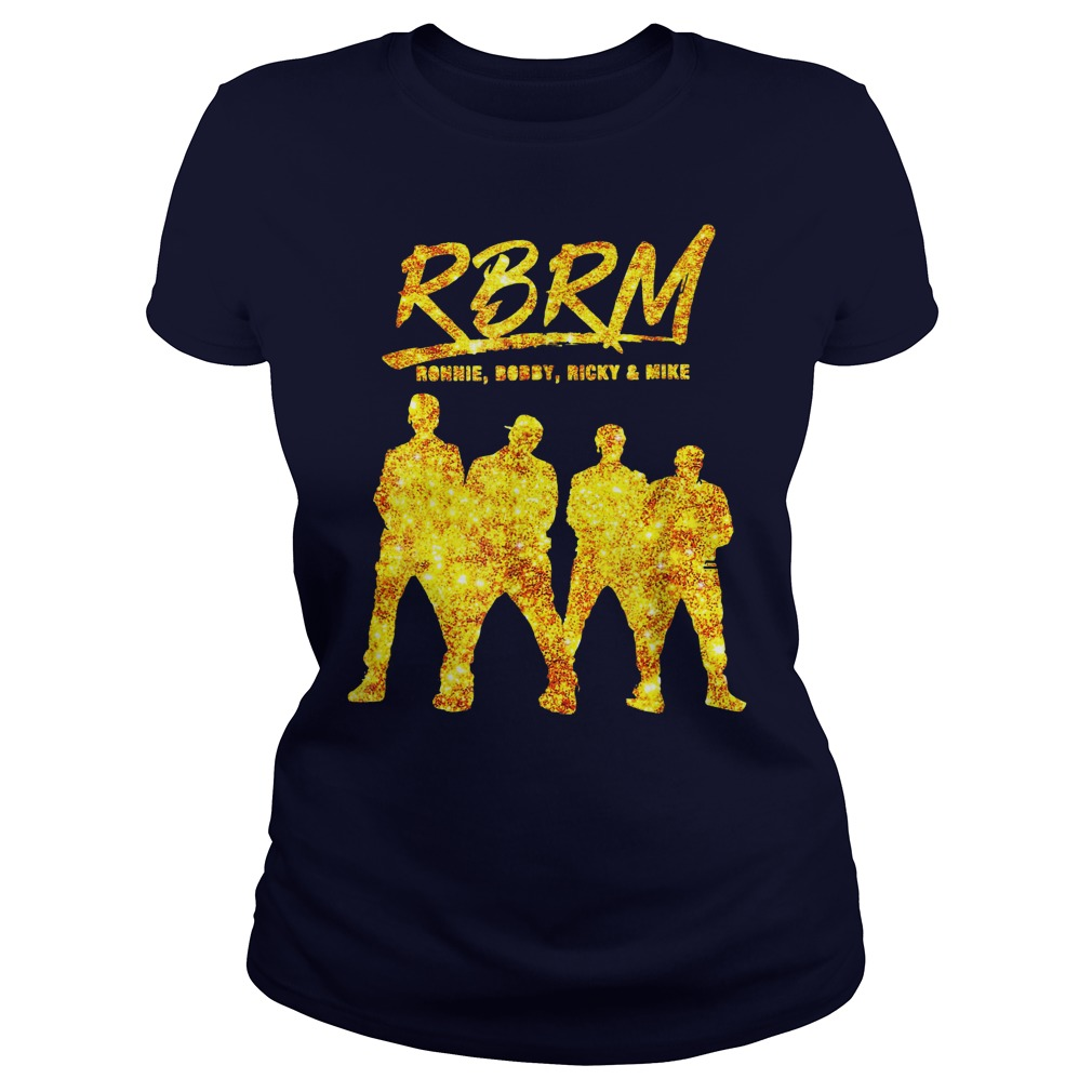 RBRM Ronnie Bobby Ricky & Mike gold shirt lady tee