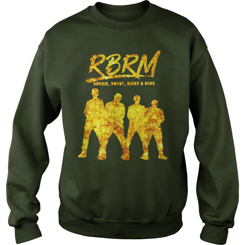 RBRM Ronnie Bobby Ricky & Mike gold shirt sweat shirt