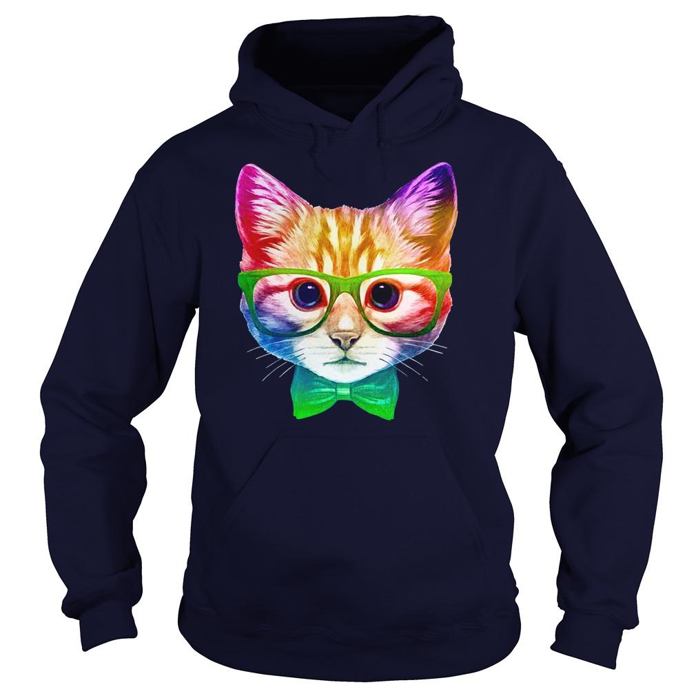 Rainbow Academicat - Skeptical Kitten shirt hoodie