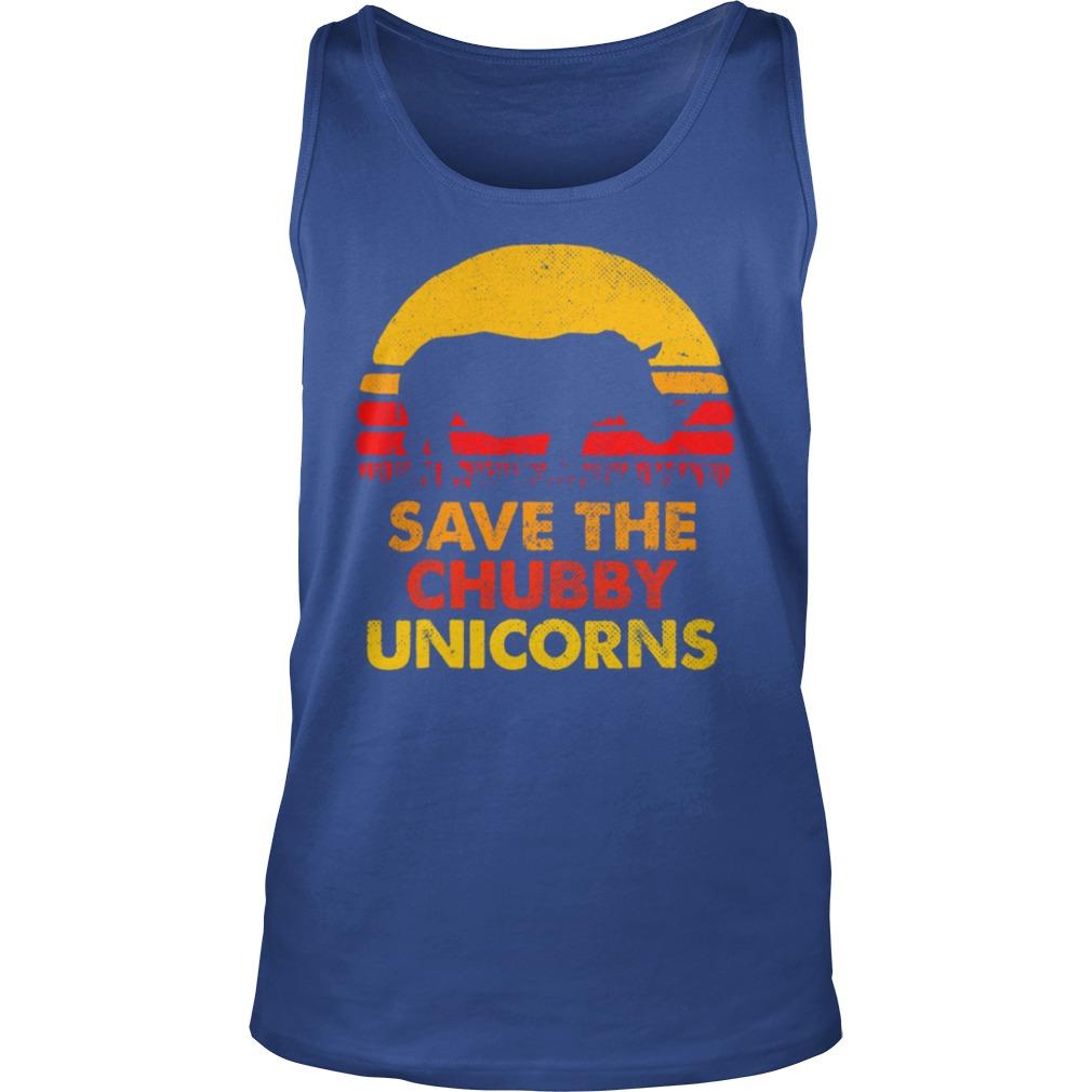 Save The Chubby Unicorns shirt unisex tank top
