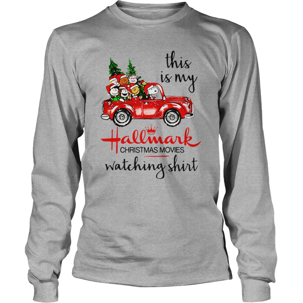 Snoopy This is my Hallmark christmas movie watching shirt unisex longsleeve tee