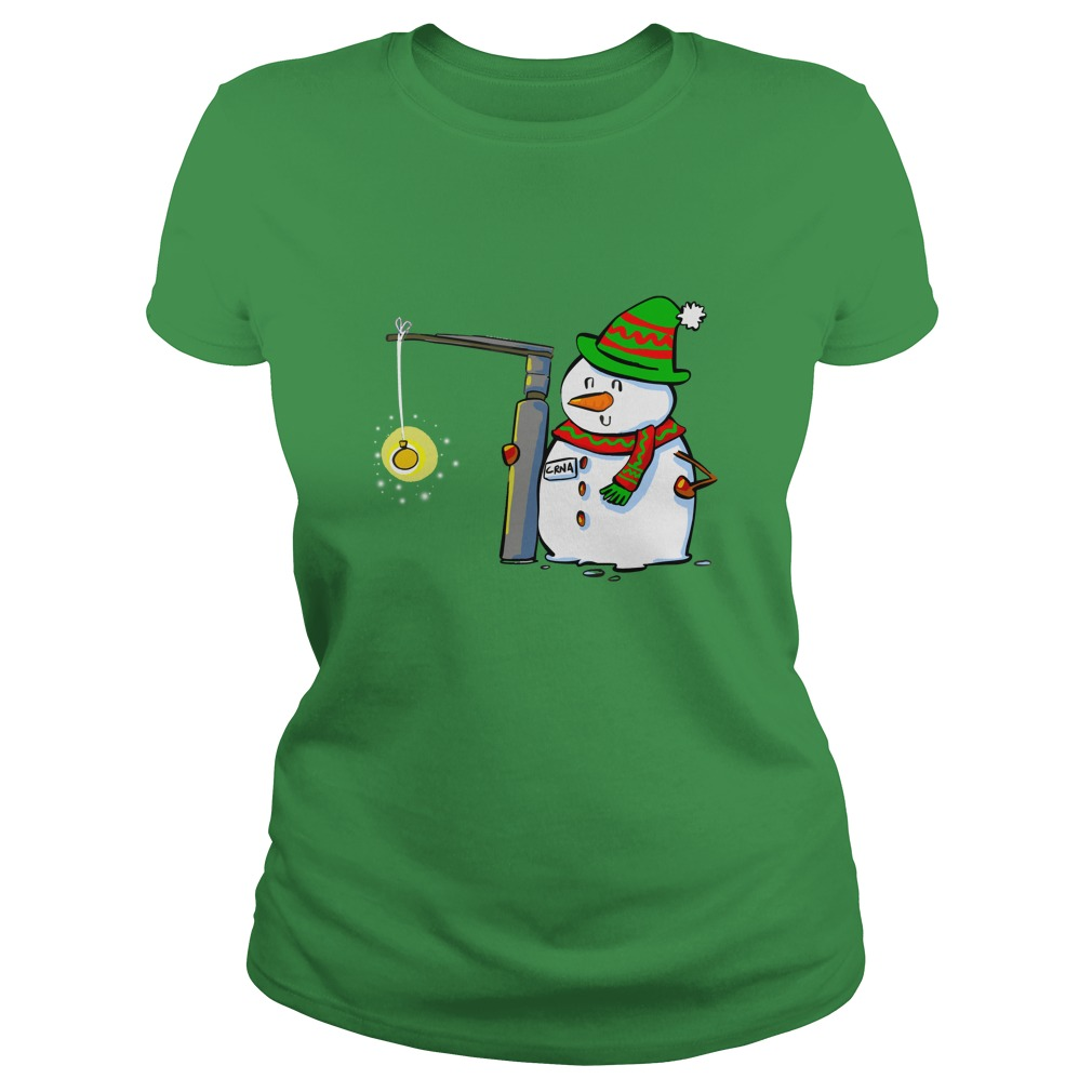 Snowman with a Miller 2 Anesthesia Christmas shirt lady tee