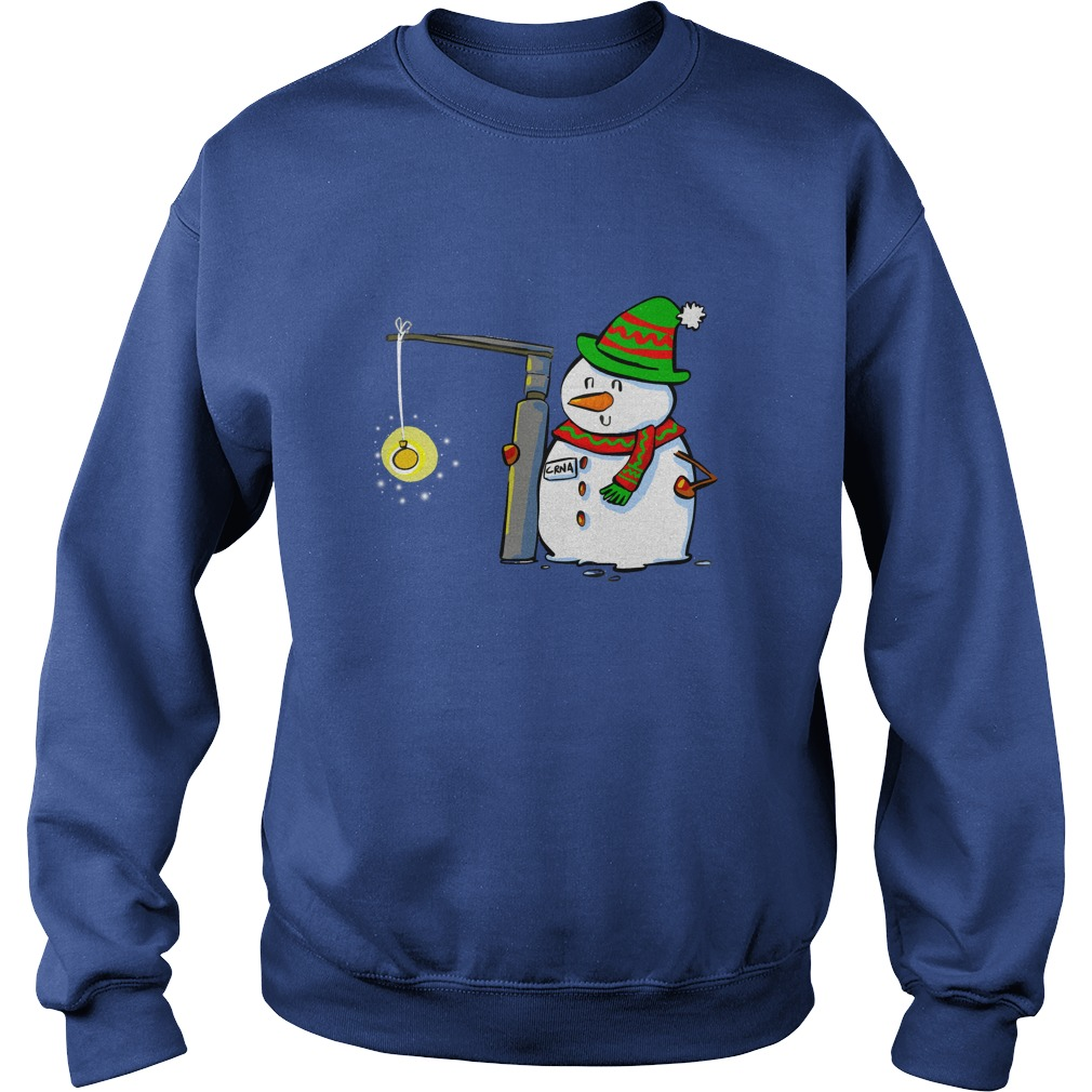 Snowman with a Miller 2 Anesthesia Christmas shirt sweat shirt