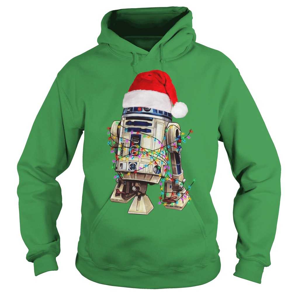 Star Wars R2-D2 Christmas led light shirt hoodie