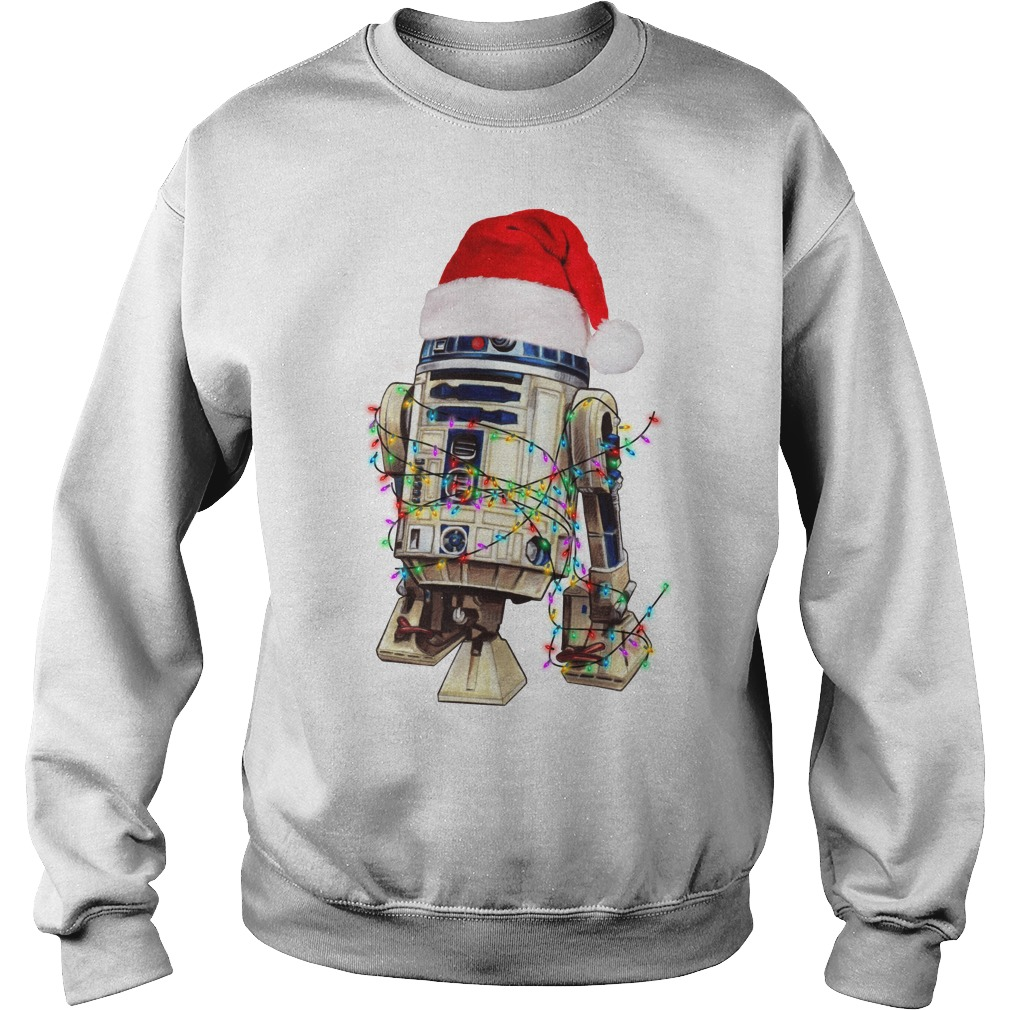 Star Wars R2-D2 Christmas led light shirt sweat shirt
