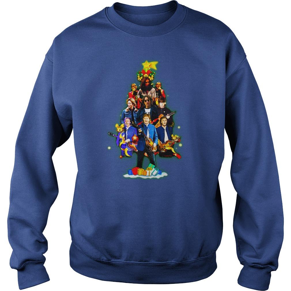 The Beatles Christmas tree shirt sweat shirt