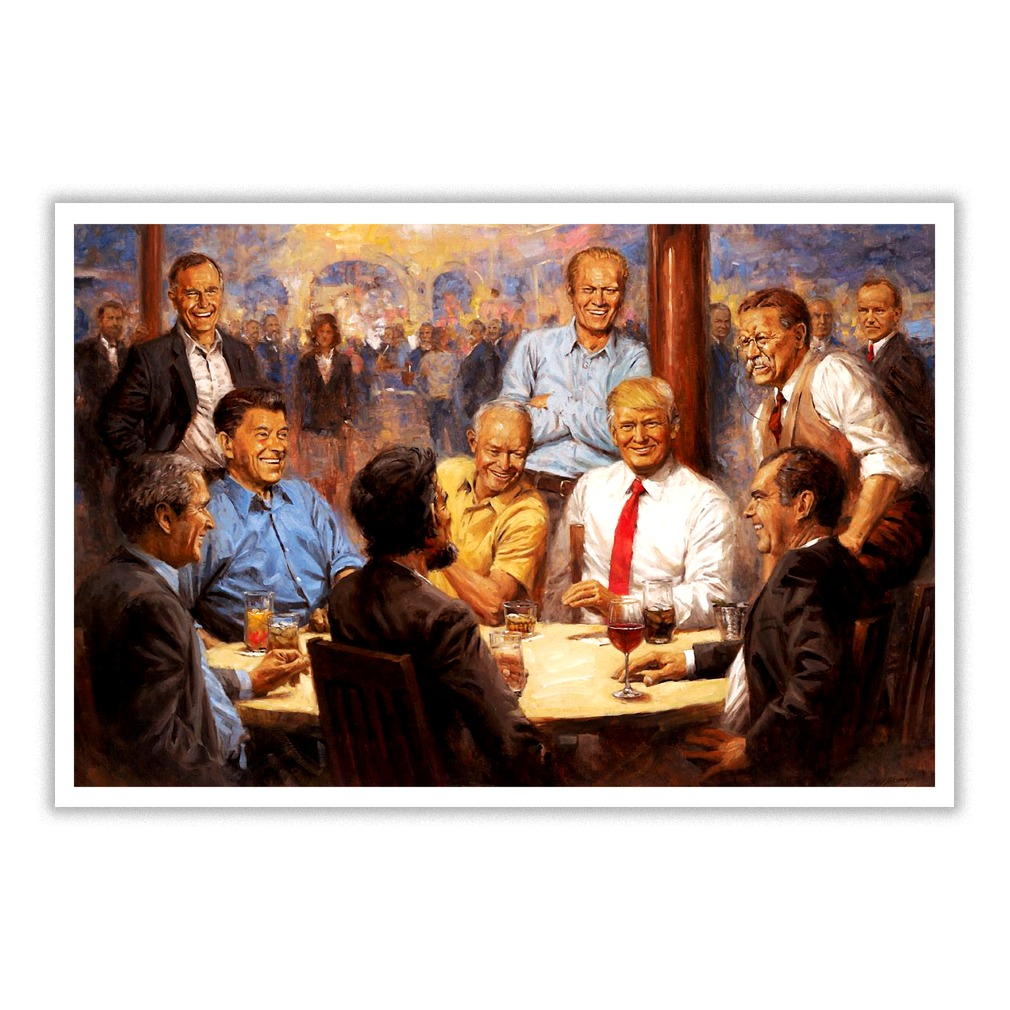 The Republican Club Painting - Donald Trump poster